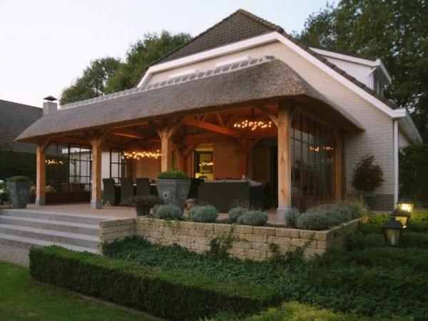 veranda overkapping van eikenhout