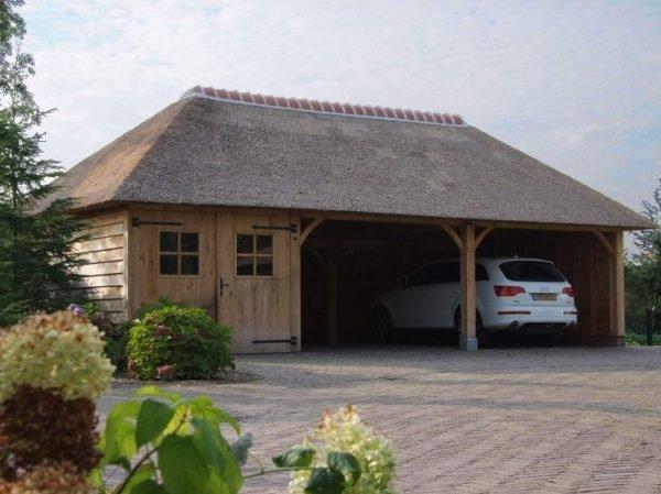 tuinhuis met carport