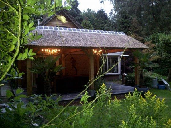 Eikenhouten veranda overkapping